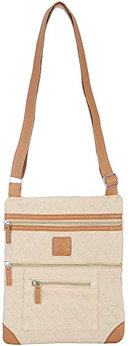 Stone Mountain Lockport Quilted Solid Handbag One Size Sand beige/tan