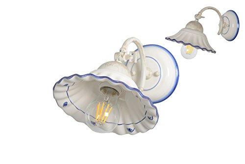 VANNI LAMPADARI - Lampada Parete art.002/420 orientabile In Ceramica Decorata A Mano Disponibile In 5 Finiture