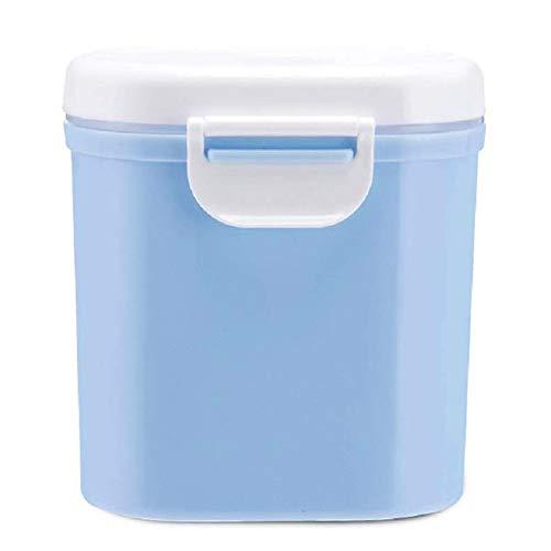 BESLIME Contenitore per Latte in Polvere per Neonati,800ML Milk Powder Dispensers Dispenser per Alimenti Portatile(Blu,circa 400 g di latte in polvere)