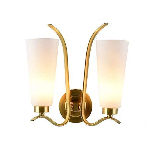 Boutique indoor lighting - Lámpara de pared 1 luz tocador de baño de iluminación con pantalla de doble cristal en bronce oscuro cubierta de montaje en pared de luz lámpara de pared Arte Decoración for
