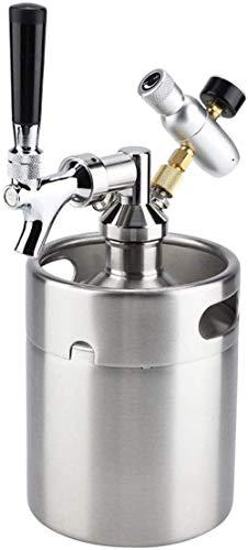 Mini juego de barriles de elaboración de agua artesanal, barril de subenvasado de almacenamiento de preparación de agua de 2 l con grifo, sistema de dispensador de agua artesanal de elaboración de cer