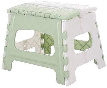 Lanrui Silla Plegable portátil de Camp Taburete de plástico for Acampar al Aire Libre Senderismo Picnic en la Playa Sillas de baño Taburete de Paso