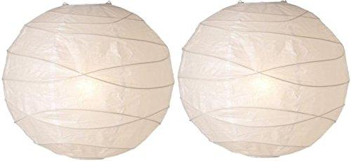Unbekannt 2 Stück IKEA Hängeleuchtenschirm REGOLIT - 45 cm - weiß (2, Regolit Hängeleuchte)