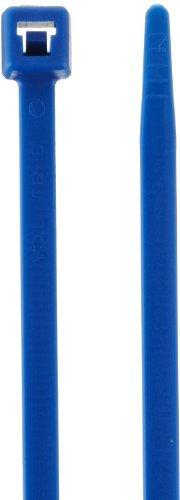 Hellermann Tyton 111-00732 Hochtemperatur-Kabelbinder, 7,9 lang, 22,8 kg Zugfestigkeit, ETFE, blau (100 Stück) von Hellermann Tyton