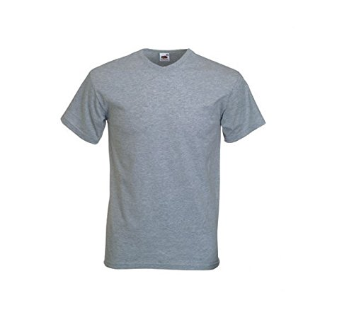 Fruit of the Loom - T-shirt - - Col V - Manches courtes Homme gris Gris Small