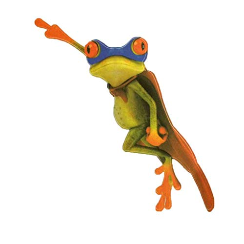 Bobury Universal Car Sticker 3D Peep Frog Funny Car Stickers Camion Stereo Frosch Fensterdekoration Finished Size: 12 * 16CM 3