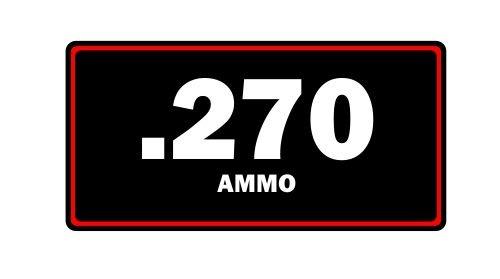 JS Artworks .270 Ammo Label Can Vinyl Sticker Decal