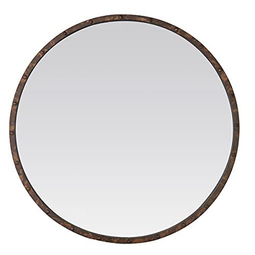 EMDE Miroir Rond à Rivets, Effet Rouillé, 80 CM