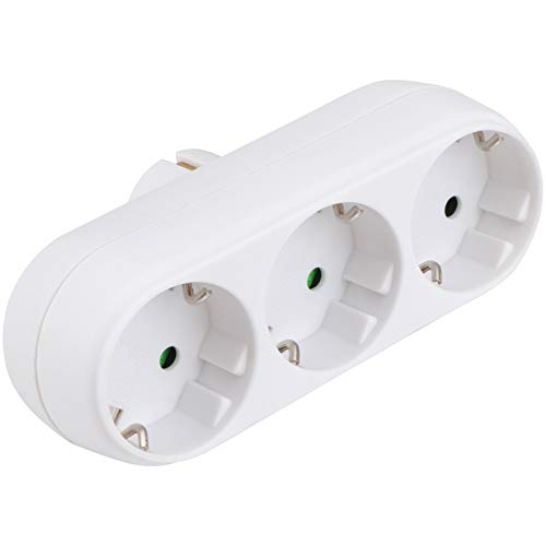 WINOMO Steckdosenleiste Verlängerungssteckdosen mit DREI Steckdosen Feuerfeste Steckdosenleiste für Sterben Zauberstab zu Hause Erhalten Weiß