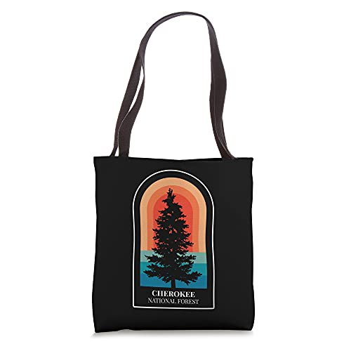 Retro Cherokee National Forest Tennessee Hiking Tote Bag