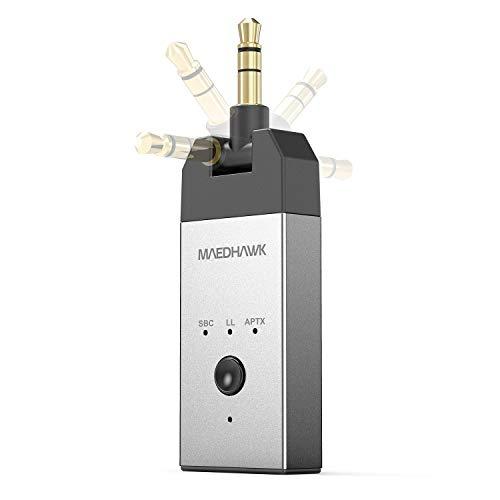 Trasmettitore Bluetooth (aptX Low Latency) - Adattatore Audio wireless Bluetooth 5.0 MaedHawk con Jack da 3.5 mm Ruotabile Per TV Switch PC PS5 XBox MP4 ecc. Accoppia con le cuffie Bluetooth