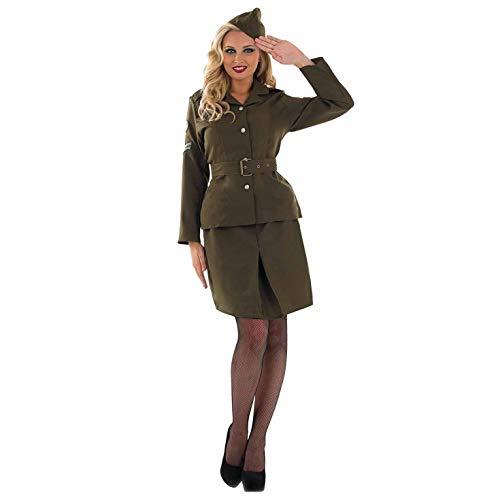 Fun Shack Grünes Militär Kostüm für Damen, Army Uniform, Halloween und Karneval - XL