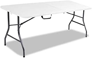 Cosco Products, 6-feet Centerfold Folding Table, Color: White Specked Pewter (Complete Set)