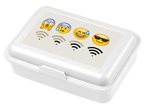 Ferocity Lonchera para niñosDesayuno Fiambrera Sandwichera Caja de Almuerzo Emoji WiFi [087]