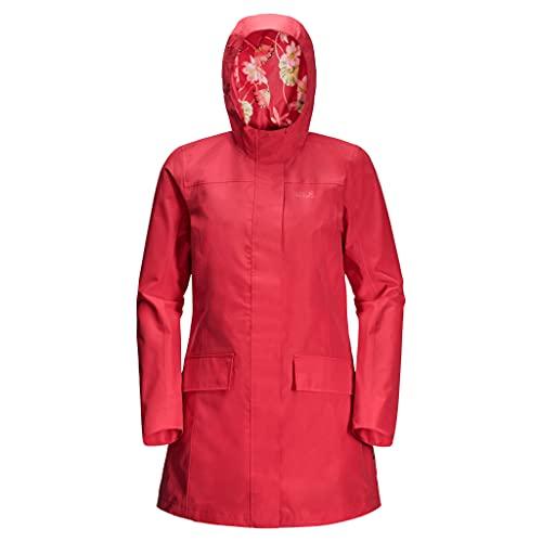 Jack Wolfskin, Cape York Paradise Coat , Hartschalen-Mantel, Tulpe Rot, L, Frau