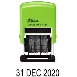 Shiny pet-400 4 mm self-inking date stamp
