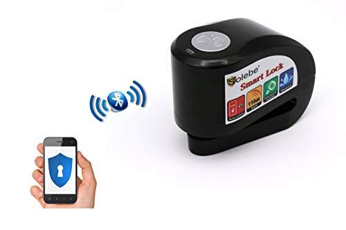Candado Moto Alarma Antirrobo Inteligente | Sin Llave | Aplicación para Móviles | Smart Disc Lock + Bolsa de Transporte con Cierre