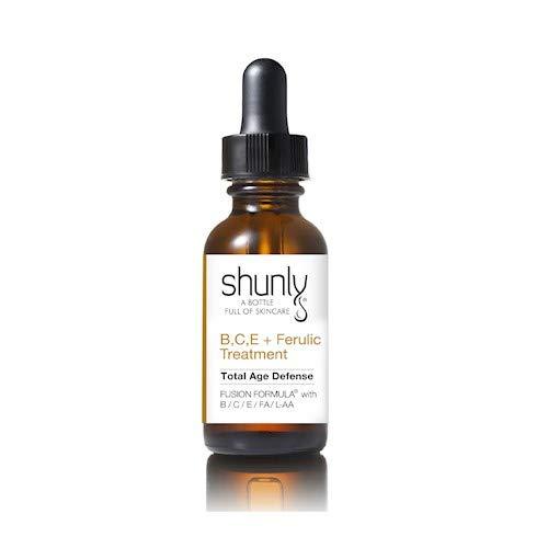 Shunly Skin Care B, C, E+ Ferulic Treatment - Total Age Defense antioxidant vitamin treatment serum with high concentrated with Vitamin B + Vitamin C + Vitamin E + Ferulic Acid + Hyluronic Acid.