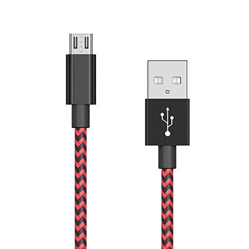 CiSiRUN Cable de Carga para PS4 y Xbox One Cable de Carga para Mando,3m, Rojo y Azul