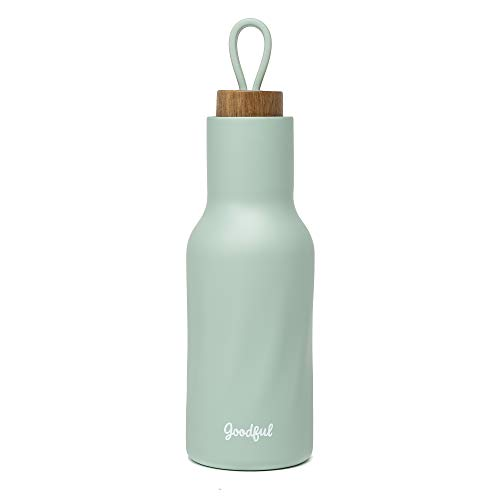 Goodful Water Bottle, Vacuum Insulated Thermos Tumbler with Leak Proof Lid, Double Walled Flask to...