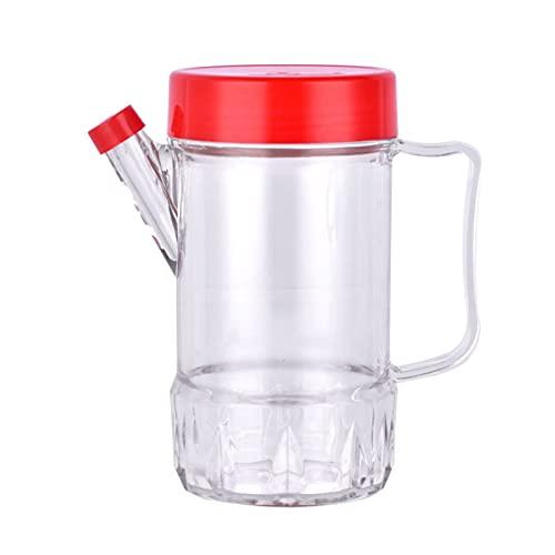 Hanpiyigyh Aceitera, Botella de cocción del dispensador de aceite, dispensador de vinagre de plástico de plástico automático, condimento con asa antideslizante, botella anti-fugas de 500 ml para cocin