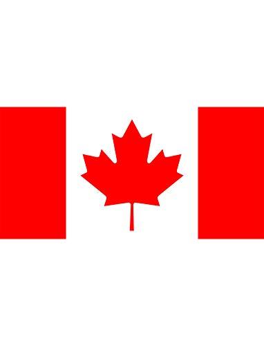 TrendClub100® Fahne Flagge Kanada Canada CA - 150x90 cm / 90x150cm