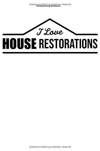 Restaurierung Notizbuch: 100 Seiten | Punkteraster | Modernisieren Gebäude Wohnung Team Haus