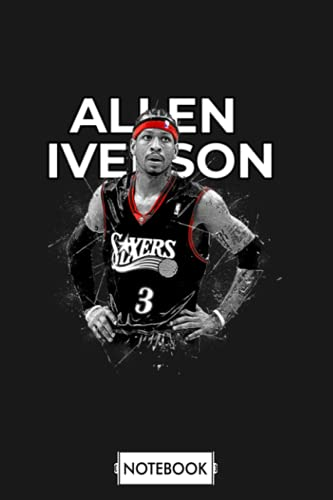 Allen Iverson Notebook: 6x9 120 Pages, Diary, Journal, Planner, Lined College Ruled Paper, Matte Finish Cover