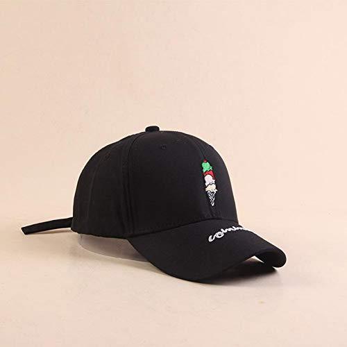 SADUZI Baseballmütze Cartoon EIS Bestickt Hip Hop Baseball Caps Student Streetwear Sonnenschirm, Schwarz