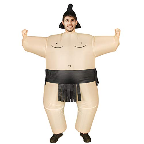 Inflatable Sumo Costume for Adults Sumo Wrestler Wrestling Suits Halloween Costume, Inflatable Costumes Cosplay Blow Up Costume Fun All Year Around