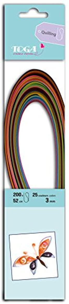 Mahé pqw001?Quilling Paper Strips Pack of 200?Multi-Coloured 0.3?x 52?x 0.1?cm