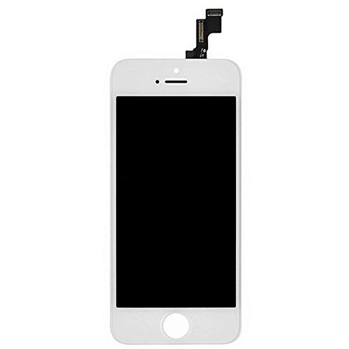 SZM iPhone5S 交換修理用 フロントパネル 液晶パネル タッチパネル アイフォン5S スクリーン 交換パーツ(5S白)