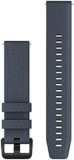 Garmin Quick Release 20 Horlogeband, Graniet Blauw Siliconen Met Zwarte Roestvrij Stalen Hardware, (010-13076-01)