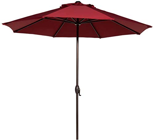 Abba Patio 9 ft Patio Umbrella Outdoor Market Table Umbrella with Push Button Tilt and Crank for Garden, Lawn, Deck, Backyard & Pool, 8 Sturdy Steel Ribs,...