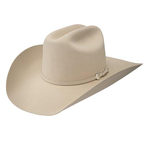 RESISTOL Mens 100X Pure 4 1/4 Brim Open Crown Felt Cowboy Hat 7 Buckskin