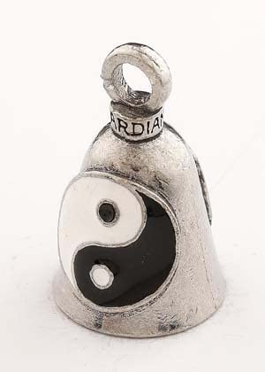 YING YANG Gorgeous ENAMEL GUARDIAN BELL WITH HANGER BIKER Free shipping anywhere in the nation