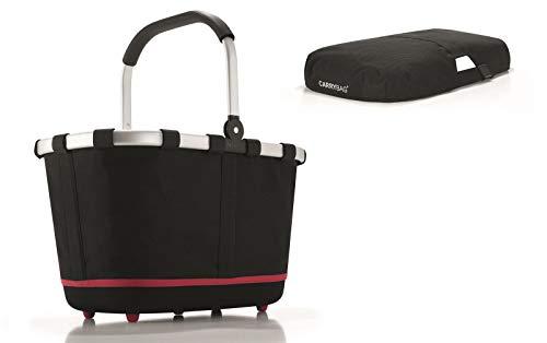 reisenthel - EXKLUSIVES ANGEBOT! carrybag 2 + GRATIS passendes cover ! Einkaufskorb Einkaufstasche (black)