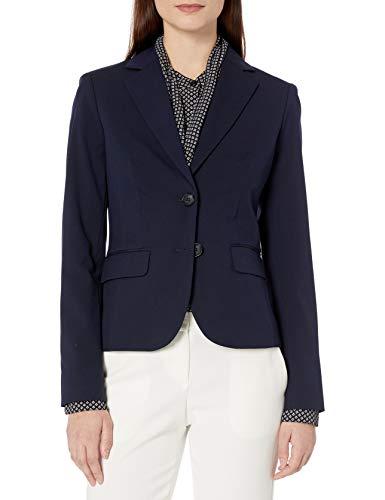 Jones New York Women's Washable Suiting Short 2 Btn Jacket, Navy, 16