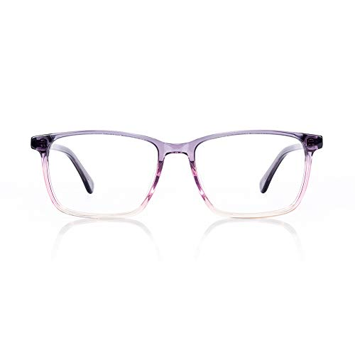 Gafas antiluz azul para hombre y mujer, protección de pantalla azul UV400, antifatiga, ocular, antirreflectante, gafas de juego, para ordenador de PC/teléfono/tableta/videojuego (Morado)