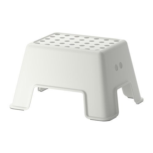 IKEA BOLMEN - Taburete escalón antideslizante, color blanco