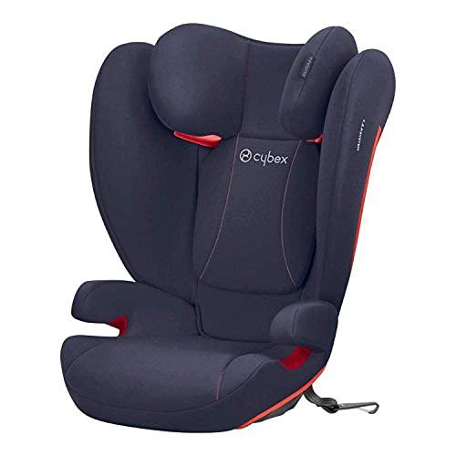 CYBEX Silver Silla de coche para bebés Solution B-Fix, Para coches con y sin Isofix, Grupo 2/3 (15-36 kg), Desde los 3 hasta los 12 años aprox., Azul (Bay Blue)