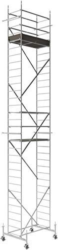 ALTEC Rollfix 900-S, Arbeitshöhe 9 m neu, inkl. 150 mm Rollen höhenverstellbar, Made in Germany, Alu Gerüst Aluminium Rollgerüst Fahrgerüst Baugerüst Zimmergerüst Arbeitsplattform Arbeitsbühne