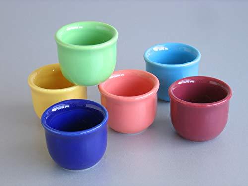 Creatable, 14016, Serie Top colours, Set Eierbecher 6 teilig, Steingut, mehrfarbig, Einheiten