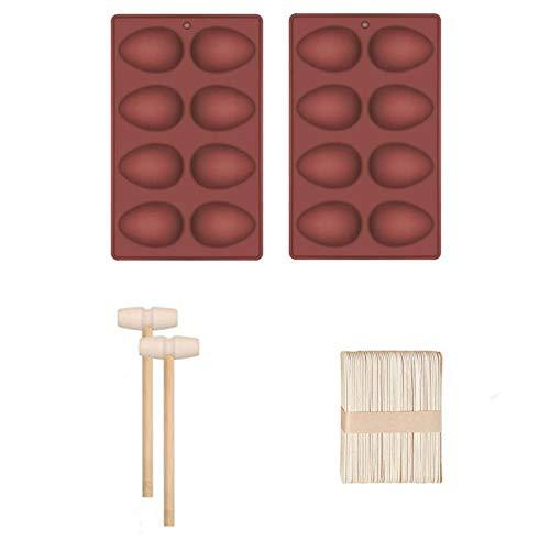 Ostern Silikon Schokoladenformen, Ei und Kaninchen Silikon Muffinform Kuchen Dessert Silikonform Handgemachte Seifenformen DIY Seifenform Silikon Seifen Form Backform für Seife, Brot, Schokolade