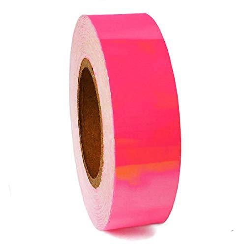 Pastorelli Cinta adhesiva láser para decoración de aros y palos (rosa fluo)
