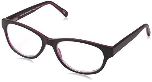Foster Grant Women's Zera Multifocus Cat-Eye Reading Glasses, Black/Transparent, 53 mm + 3.25