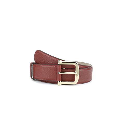 Gucci Damen Signature Microguccissima Ledergürtel, Rot, 38-40 US / 100 UK
