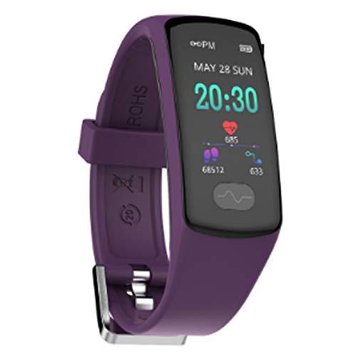 Wsaman Pantalla Táctil Smartwatch Pulsera de Actividad Inteligente Fitness Tracker 0.96 Inch Reloj Inteligente IP68, con Sueño Monitor de Actividad Podómetro para Android/iOS/Hombre/Mujer,Púrpura