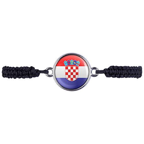 Mylery Armband mit Motiv Kroatien Zagreb Croatia Flagge Silber 16mm