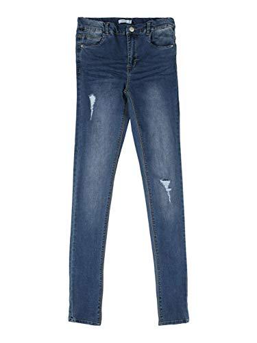 NAME IT Mädchen NKFPOLLY DNMTRILLAS 2475 HW Pant NOOS Jeans, Medium Blue Denim, 164